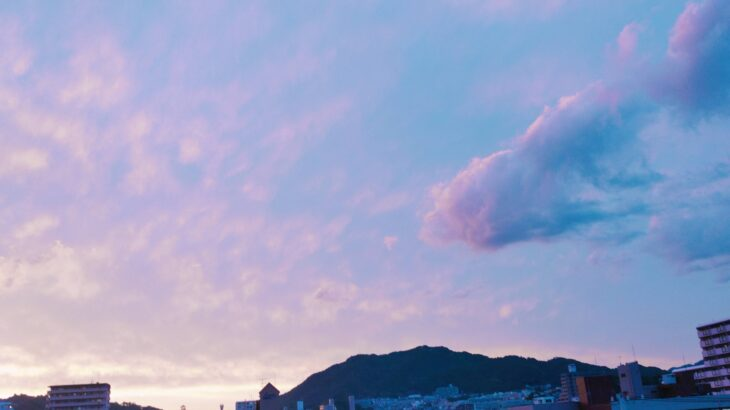 5/21(金)綺麗な夕焼け